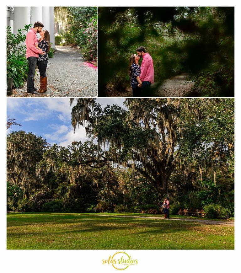 Engagement Session Photos at Magnolia Plantation Charleston